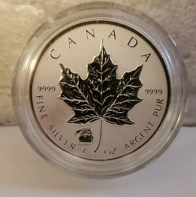 2012 Canada 1 oz $5 .9999 Silver Maple Leaf w/Titanic Privy Scarce Canadian Coin