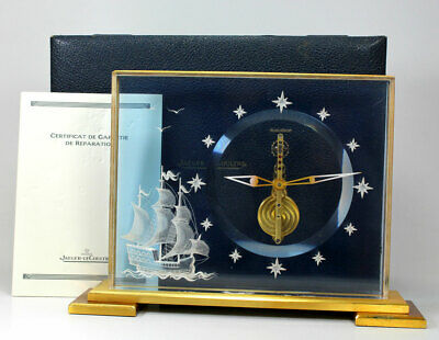 Rare 8 Days Jaeger Lecoultre bar Work Chinese Marina Clock Box