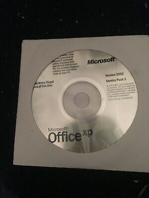 MICROSOFT Office XP Version 2002 Service Pack 1 Word Excel PowerPoint Sealed New