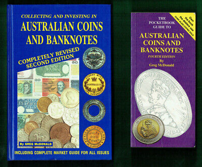 #Kk.    #6.   Lot Of Eight(8)  Old Australian  Coin  & Banknote Catalogue Books