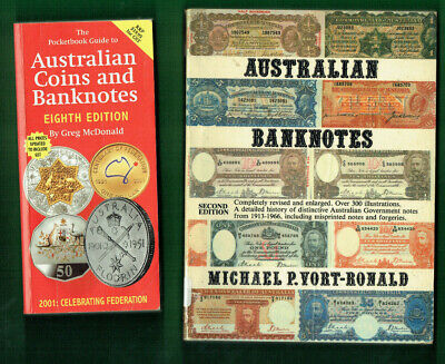 #Kk.    #9.   Lot Of Eight(8)  Old Australian  Coin  & Banknote Catalogue Books
