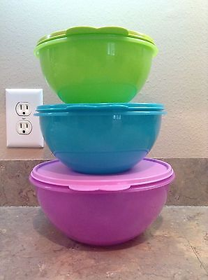 Tupperware Wonderlier Bowl Set Of 3