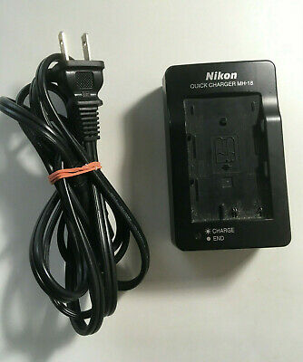 Nikon MH-18a AC Battery charger adapter for EN-EL3-E cameras Genuine