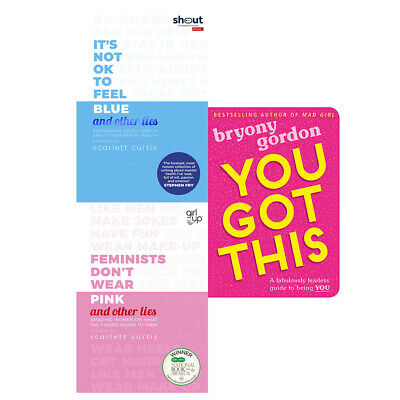It's Not OK to Feel Blue, Feminists Don't Wear Pink, You Got This 3 Books Set