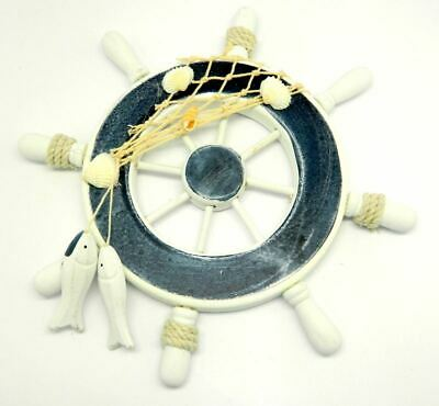 Wood Boat Ship Wheel Sealife Nautical Decoration Beach Home Wall Hanging Decor