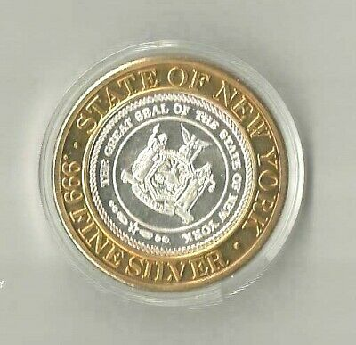 FOXWOODS RESORT CASINO Coin 1994 .999 Fine Silver State Of New York