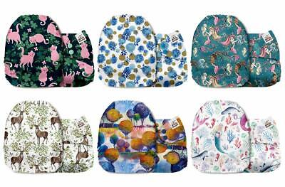 Mama Koala One Size Baby Washable Reusable Pocket Cloth Diapers, 6 Pack with 6 O