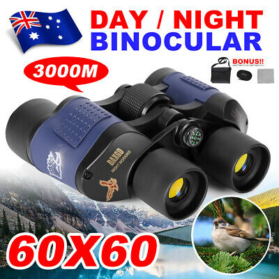 Day/Night Vision Binoculars Telescope HD Coordinates 3000M 60X60 Waterproof New