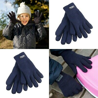 Childrens 3M Thinsulate Gloves Thermal Lined Winter Warm Boys Girls Kids - R147J