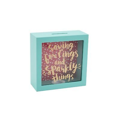 CGB Giftware Oh So Pretty Sparbüchse aus Holz Saving For Rings And (CB776)