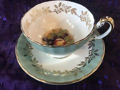 Aynsley Orchard Cabinet Cup and Saucer (2 available)