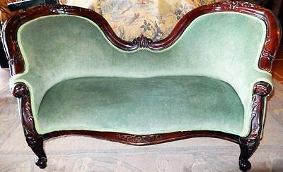 Dolls Dogs Sofa Couch Lounger Seat Furniture Wood Baroque Empire Biedermeier