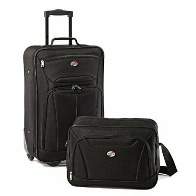 American Tourister Fieldbrook II Softside Luggage Set (Black|2-piece Set)