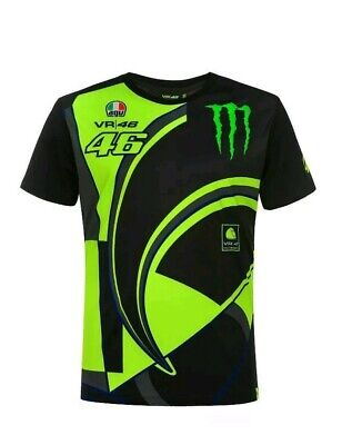 Valentino Rossi VR46 Moto GP Monster Energy T-shirt Official 2019
