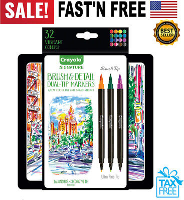 Calligraphy Marker Set Dual Tip Brush Pen Detail Lettering Practice Starter Kit