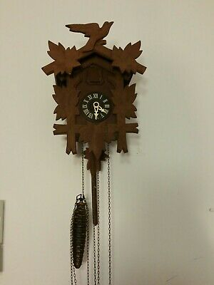 Antique  Forest Cuckoo Clock Excellent  condition. Germany. Signed Rare old.