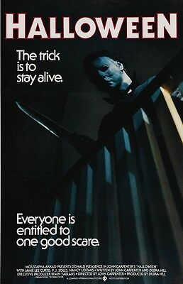 Halloween movie poster  : 11 x 17 inches Michael Myers poster, Halloween poster