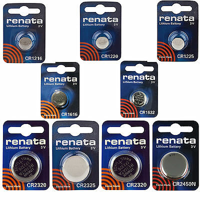 Renata Batteries CR 1216 1220 1225 1616 1632 2320 2325 2430 2450 2016 2025 2032