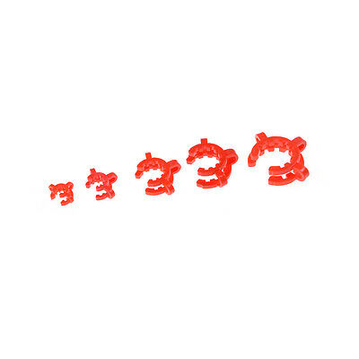 10PCS Plastic Lab Clamp Clip Keck For Glass Ground Joint Multiple*Size TBFLA