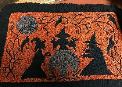 Primitive Punch Needle Pattern ~ All Hallow's Eve