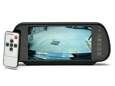 In Car 7 Inch Rear View Mirror Monitor - Touch Button Control 4:3 Ratio 480x234