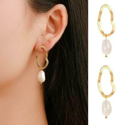 Fashion Womens Gold Silver Plated Crystal Pearl Hoop/Drop Stud Ear Earrings X5S5
