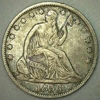 1856 O New Orleans Seated Liberty Silver Half Dollar US Type Coin XF Extra Fine