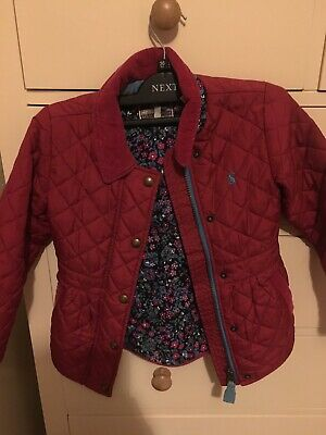 Girls Joules Quilted Jacket Size 4 Years (104cm).
