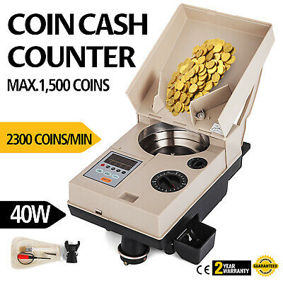 Automatic Coin Sorter Electronic Coin Counting Machine Nickles Fast Commercial