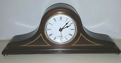 The Bombay Company Wood Mantle Quartz Clock