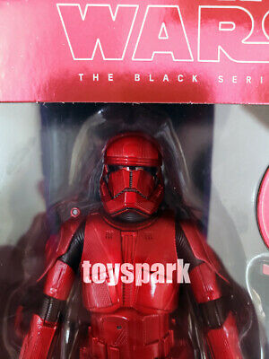 """HASBRO STAR WARS 6"""" inch Black Series #92 CARBONIZED SITH TROOPER action figure"""