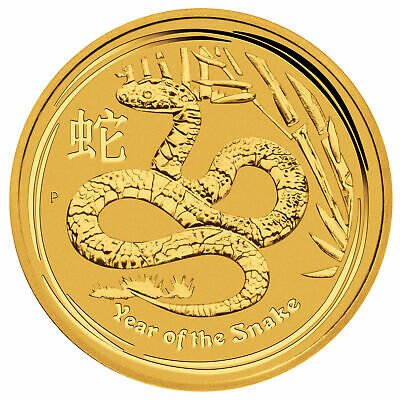 2013 $100 1oz Australian Gold Year of the Snake .9999 Lunar Series II