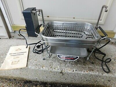 Vintage Farberware Open Hearth Rotisserie Grill W/Cookbook