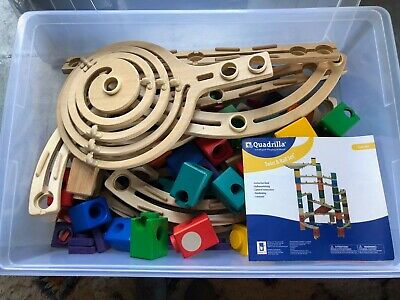 Hape Quadrilla 1-4 hole Straight Rail  Replacement Parts wooden Marble chase