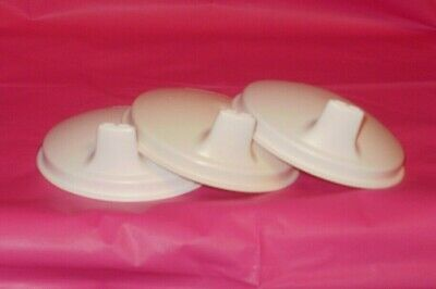 Tupperware White Sipper Seals, Set Of 3     (#1433)
