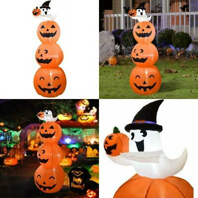 Dreamone 8 Foot Halloween Inflatables Pumpkin With Cute Ghost For Halloween Indo