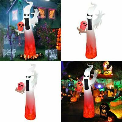 Dreamone 9 Foot Halloween Inflatables Flashing Flame Ghost For Halloween Indoor