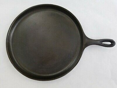 Really Nice Lodge Old Style Cast Iron Griddle - 10 1/2 inch Cleaned/Seasoned