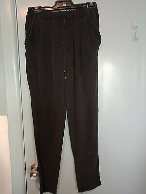 Moschino Dutti black silk pants in size 10