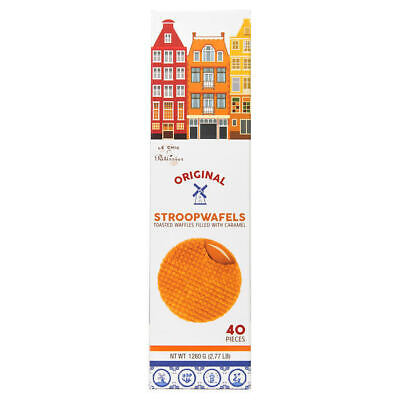 Le Chic Patissier Original Stroopwafels Toasted & Filled With Caramel  *Sealed*