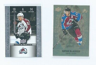 Nathan MacKinnon Game Day Action, Gold Etchings 2019-20 Tim Hortons Upper Deck