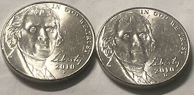 2012 P /& D JEFFERSON NICKEL UNCIRCULATED 2 COINS