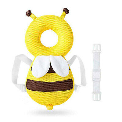 Baby Protect Cute Bee Headpad Toddler Headrest Pillow Drop Resistance Cushion AU