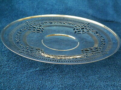 9'' Gorham Sterling Silver Footed Ornate Cake Stand