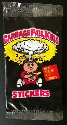 1987 UK Garbage Pail Kids Series 5 Empty Pack~Excellent Condition ~Vintage~Topps