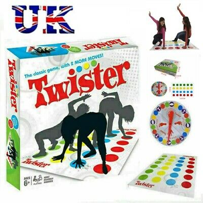 UK Funny Twister The Classic Game Body Game With 2 More Moves Family Party Games