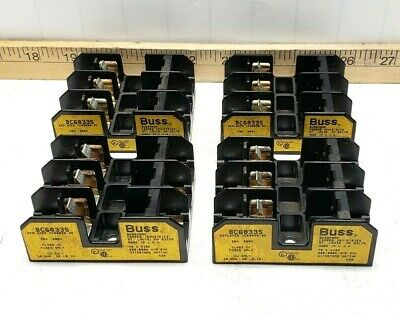 4) Cooper Bussmann Fuse Block Fuse Holders 30A 600V Cc Fuses Bc6033S Lot Of 4
