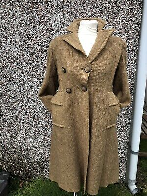VINTAGE ORIGINAL  1940s LADIES TWEED  COAT SIZE 8