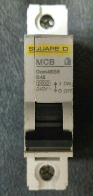 Square D Brand New Dom45B6-45Amp Type B Single Pole MCBs Dom10B6-6Amp