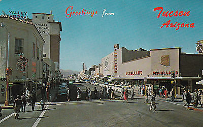 TUCSON, Arizona, 40-60s; Valley National Bank, Drug/Pharmacy Store, McLellan's